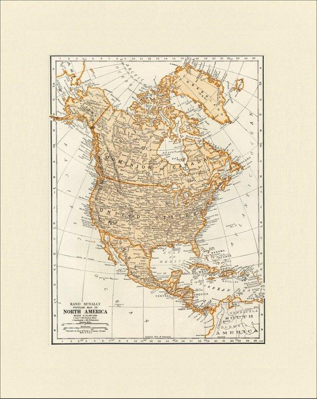 Map of North America, 1937