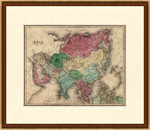 Map of Asia, 1835