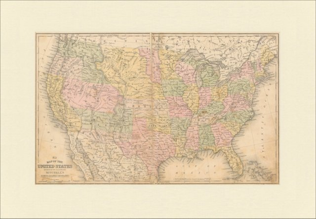 Map of the United States, 1858