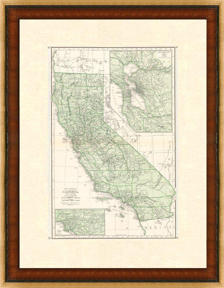 California Map, 1937
