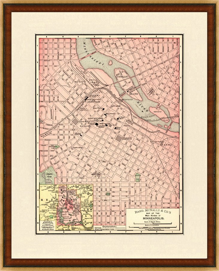 Map of  Minneapolis, C. 1895