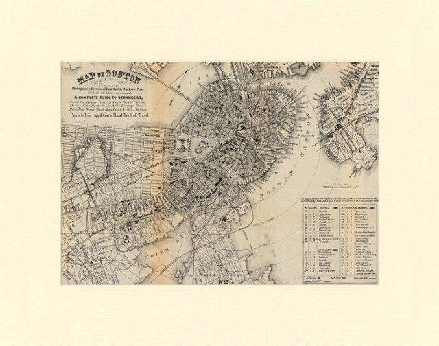 Map of Boston, C. 1875