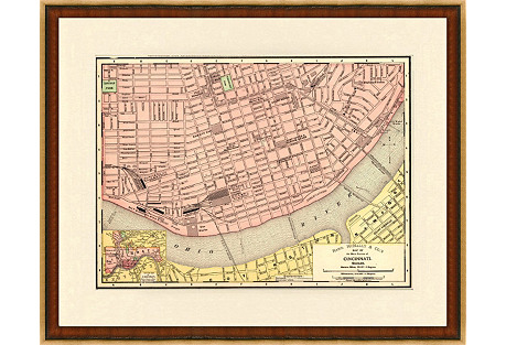 1890s Map of Cincinnati