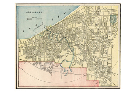 Map  of  Cleveland, C. 1900