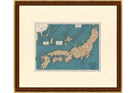 Map of Japan, 1937