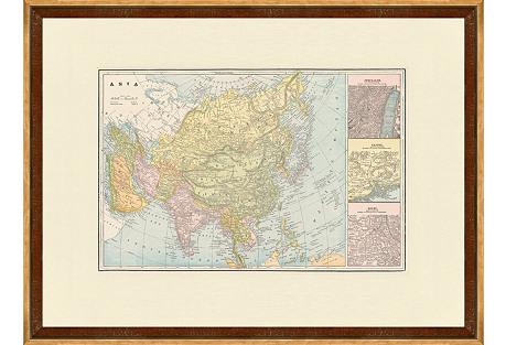 Map of Asia, C. 1900
