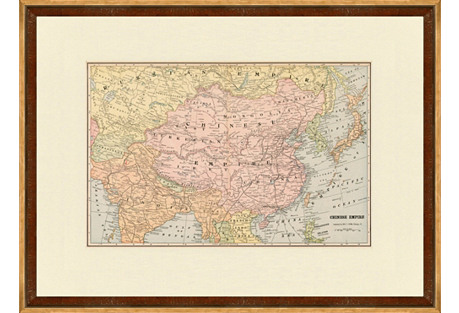 Map of the Chinese Empire, C. 1900