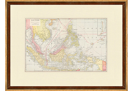 Map of the East  Indies, C. 1900