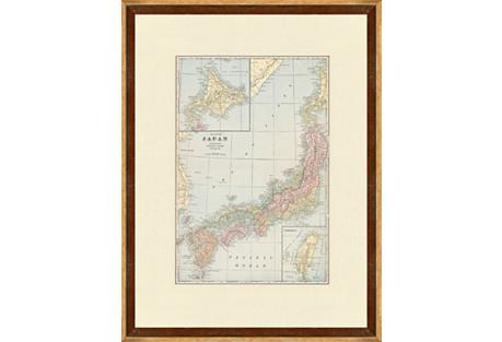 Map of  Japan, C. 1900