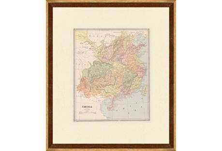 Map of China,  C. 1900