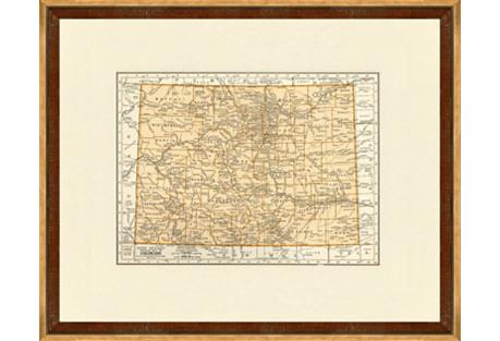 Map of Colorado,  1937