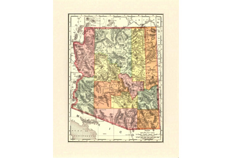1890s Map of Arizona