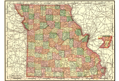 1890s Map of Missouri