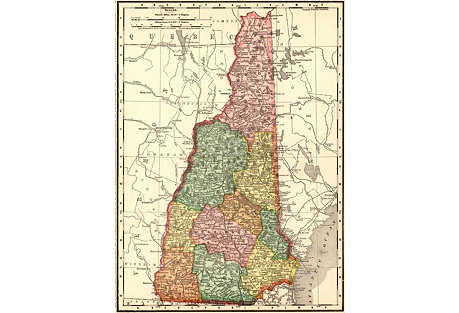 1890s Map of New Hampshire
