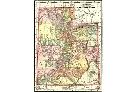 1890s Map of Utah