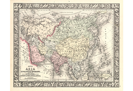 1860s Map of Asia