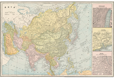 Map of Asia,  C. 1900