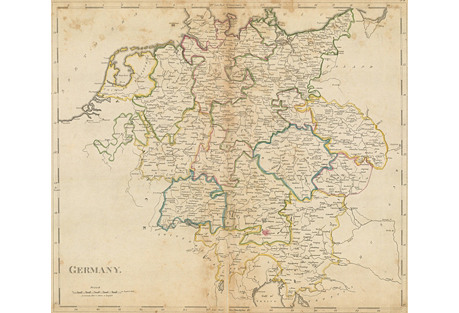 Map of Germany, 1795-1818
