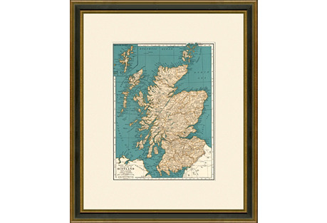 Map of  Scotland, 1937