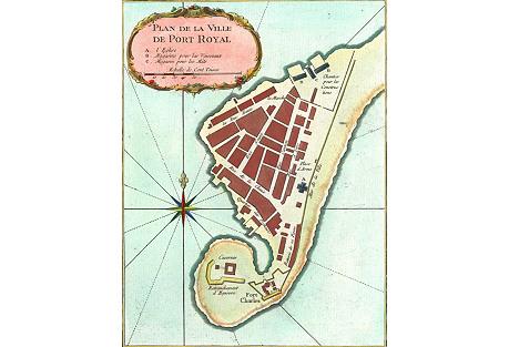 Map of Port Royal, Jamaica, 1764