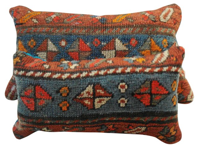 Caucasian Carpet Pillows,    Pair