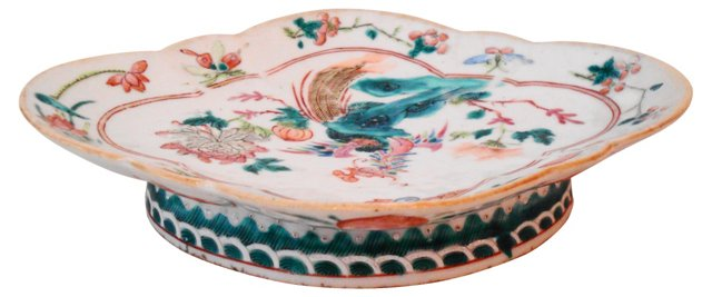 19th-C. Chinese Export Serving Bowl