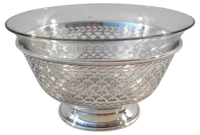 Sterling & Glass Candy Bowl