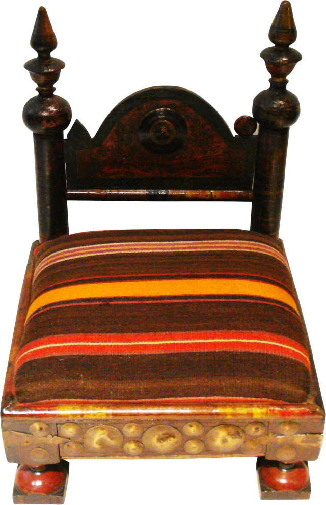 Old Indian Low Chair