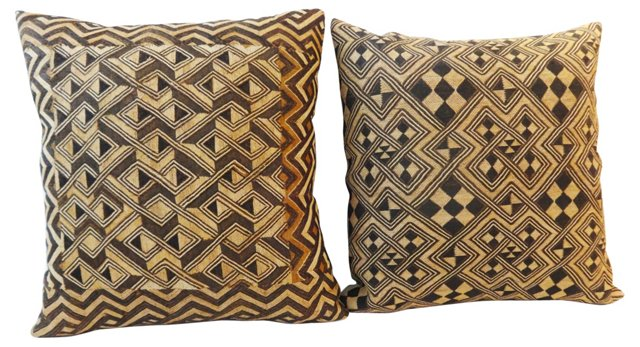 Kuba    Pillows, Pair