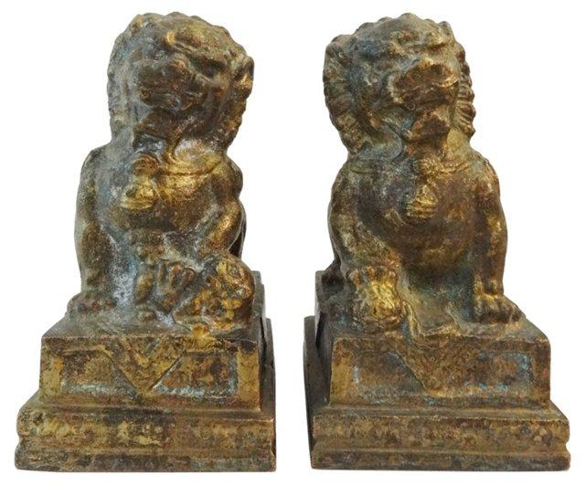Bronze Foo Dogs, C. 1910