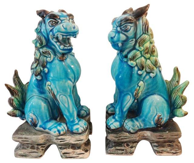 Buddhist Lions, Pair