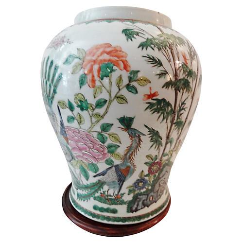 19th-C. Famille Verte Vase