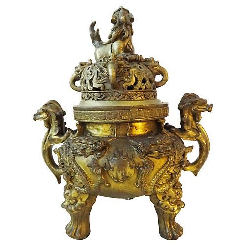 Old Bronze Incense Burner