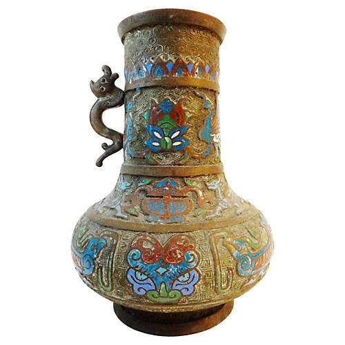 Old Japanese Champleve Vase