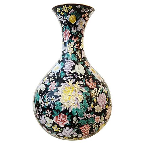 Onion-Shape Enamel Vase