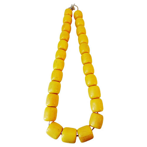 African Amber Currency Trade Beads