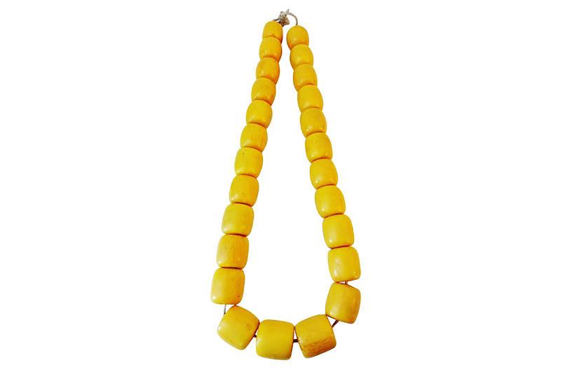 Jumbo Amber Currency Trade Beads