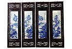 Landscape Porcelain Wood Panels, S/4