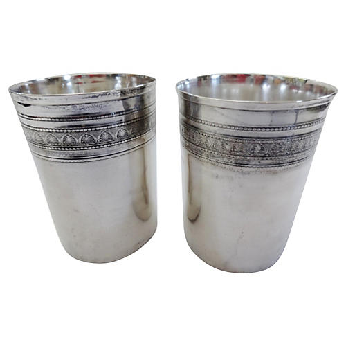 Coin Silver Beakers, S/2