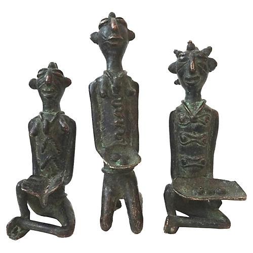 African Benin Bronze Sculptures, S/3