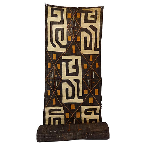 African Kuba Textile Embroidered Hanging