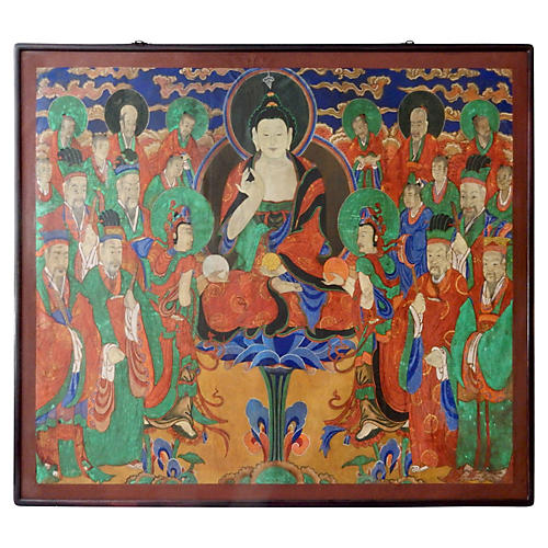 19th-C. Painting of Buddha Amitabha