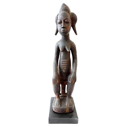 Old Baule Female Figure Spirit Spouse