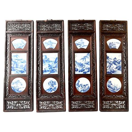 S/4 Landscape Porcelain Wood Panels