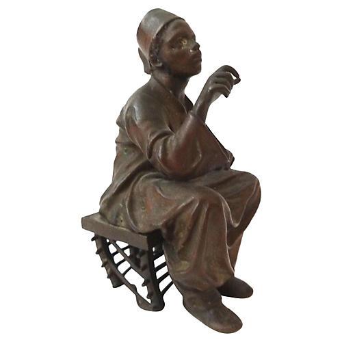 Austrian Orientalist Bronze Figure