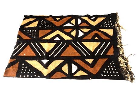 Malian Bogolan Mud Cloth Textile