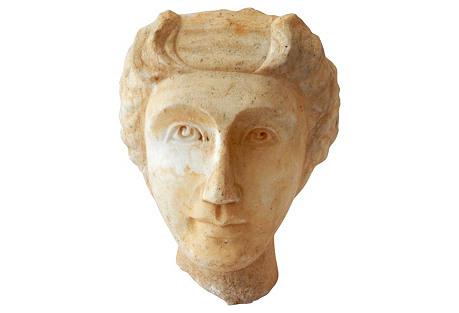Greek-Style Marble Head