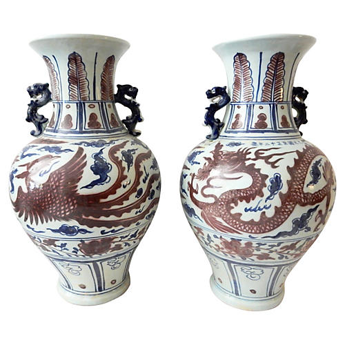 Ming-Style Vases, S/2