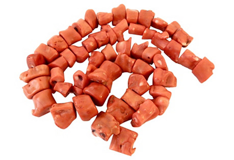 Nepalese Natural Coral Beads S/2