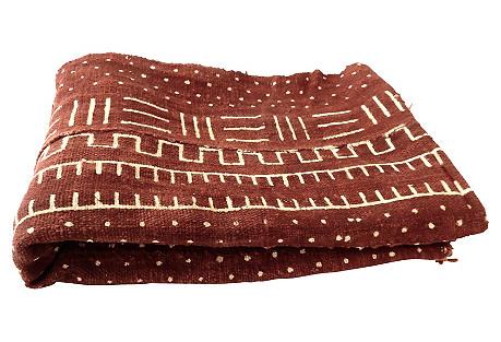 African Chocolate & Ivory Mud Cloth